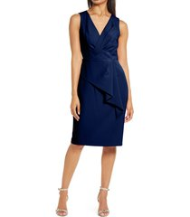 women's eliza j gathered body-con dress, size 18 - blue