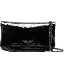 zadig & voltaire vinyl leather tote bag - black