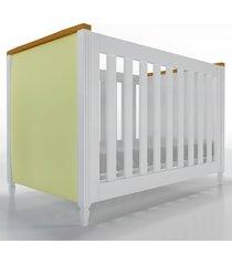 berã‡o 2x1 tudor branco / amadeirado cabeceira estofada timber - branco - dafiti