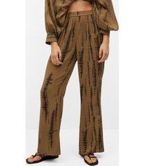 mango flowy printed pants