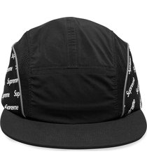 supreme logo side camp cap - black