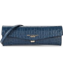 bruno magli women's envelope croc-embossed leather convertible clutch - ink