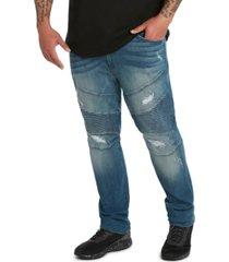 mvp collections men's big & tall denim biker jean