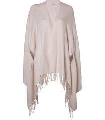 poncho le lis blanc fatima quartzo tricot rosa feminino (quartzo, un)