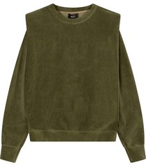 alix the label padded sweater