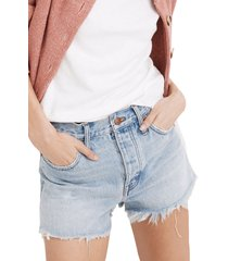 madewell relaxed denim shorts, size 32 in cedarcroft wash at nordstrom