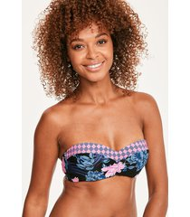 moonflower bandeau bikini top