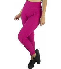 calça legging mvb modas cintura alta bolha rosa