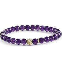 lagos 'caviar icon' semiprecious stone bracelet in amethyst/gold at nordstrom