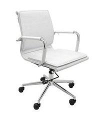 cadeira de escritório interlocutor valencia estofada branca