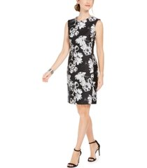 n natori floral-print jacquard sheath dress