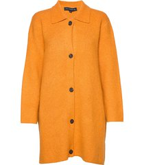 katya gemini knits coatigan wollen jas lange jas geel french connection