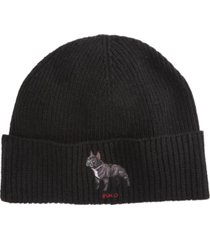 polo ralph lauren men's french bulldog cold weather cuff hat