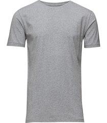 alder basic tee t-shirts short-sleeved grå knowledge cotton apparel