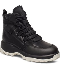 helix shoes boots ankle boots ankle boots flat heel svart camper