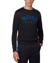 boss men's salbo black sweatshirt