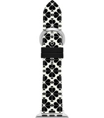kate spade new york women's interchangeable black & white floral silicone apple watch strap 38mm/40mm