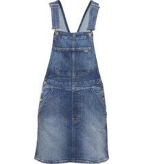 classic dungaree dress ambc dresses jeans dresses blå tommy jeans