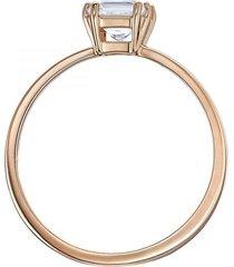 anillo con motivo atractivo, blanco, baño de oro rosa 5515778