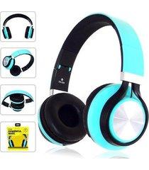 audífonos, fe-006 auriculares plegables con mic-azul