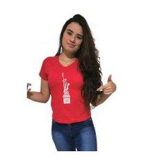 camiseta gola v cellos new york premium feminina