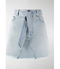 givenchy belted denim mini skirt