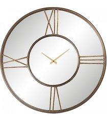 zegar metalowy lustrzany old gold 70 cm