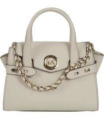 michael kors logo plaque chain handle tote