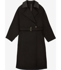 belted trench coat black 40
