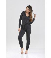 pijama preto sienna cloã¡ - preto - feminino - dafiti