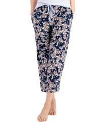 charter club cotton knit cropped pajama pants, created for macy's