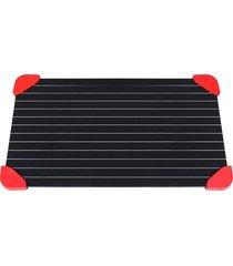 tábua yubobo para descongelar alimentos redlegs com ponteiras em silicone preto/vermelho