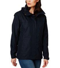 helly hansen w aden waterproof & windproof hooded jacket, size large in navy at nordstrom