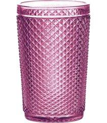 conjunto 6pçs copos rojemac alto bico de jaca lilás 355ml bon gourmet