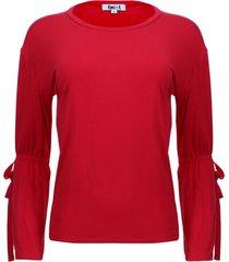 camiseta unicolor manga campana color rojo, talla 8