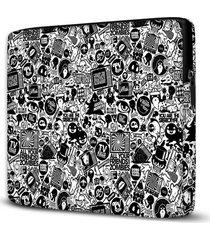 capa para notebook figurinhas 15 polegadas - preto - dafiti