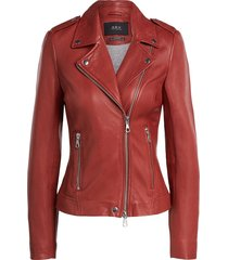 leren bikerjas allister  bordeaux