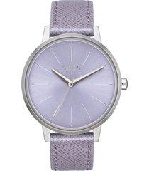 women's nixon the kensington leather strap watch, 37mm