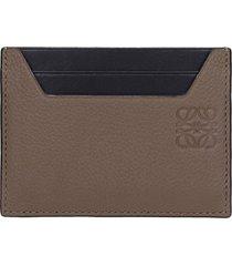 loewe plain wallet in black leather
