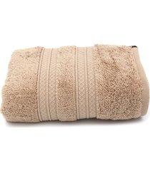 toalha de rosto karsten unika fio penteado 48x80cm castanho - kanui
