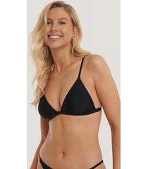 na-kd swimwear basic triangle bikini bra - black