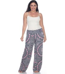 white mark plus size geometric print palazzo pants