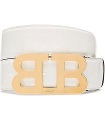 mirror b patent leather belt