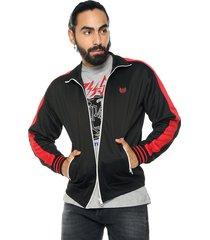 chaqueta negro-rojo diesel