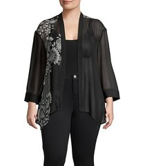 ornate melody chiffon cardigan