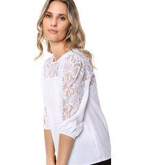 blusa blanca odas encaje