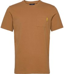 fabric dyed pocket tee t-shirts short-sleeved brun scotch & soda