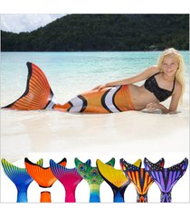 2017 summer mermaid tail with monofin swimmable swimsuit bikini tail+flippers