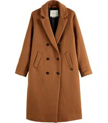 maison scotch 163609-0082 double breasted woll-blend classic coat