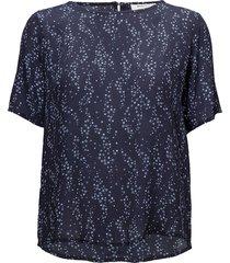 celina print top t-shirts & tops short-sleeved blå modström